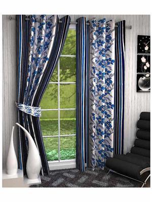 Click Weaves KI014 Multicolored Window Curtain