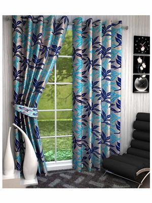 Click Weaves KI021 Multicolored Window Curtain