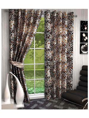 Click Weaves KI040 Multicolored Window Curtain