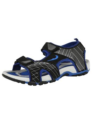 Indian Style Kis-80 Black-Blue Men Sandals