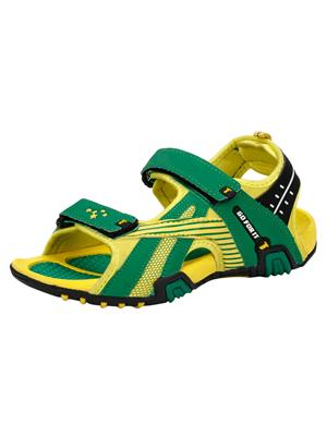Indian Style Kis-81 Green-Yellow Men Sandals