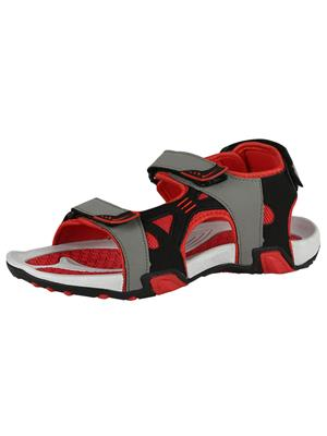 Indian Style Kis-83 Grey-Red Men Sandals