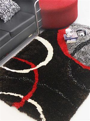 Royzez Handmade Polyester Shaggy Rug Multicolor K00011