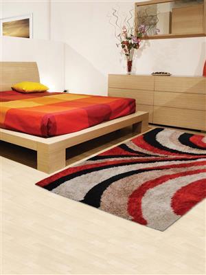 Royzez Handmade Polyester Shaggy Rug Multicolor K00028