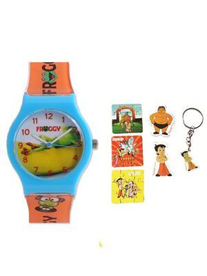 Fantasy World Kkfw-1001-Yl Yellow Chota Bheem Kids Watch Combo Pack