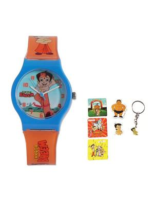 Fantasy World Kkfw-2001-Rd Orange Mighty Raju Kids Watch Combo Pack