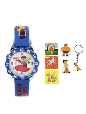 Fantasy World Kkfw-2010 Or White Mighty Raju Kids Watch Combo Pack