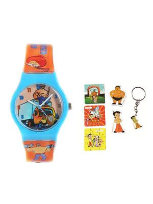 Fantasy World Kkfw-3001-D.Bl Blue Chacha Chaudhary Kids Watch Combo Pack