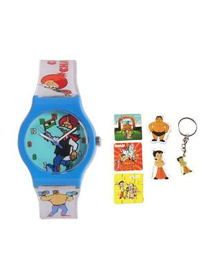 Fantasy World Kkfw-3001-Gr Blue Chacha Chaudhary Kids Watch Combo Pack