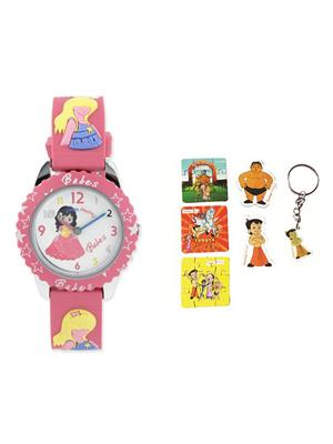 Fantasy World Kkfw-5010 Rd White Babes Kids Watch Combo Pack