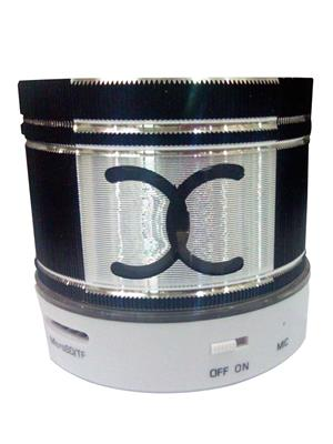 General Aux Koiled Black Round Led Bluetooth Speaker