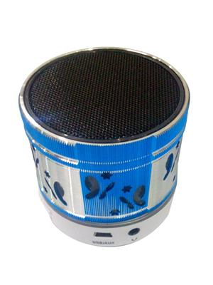 General Aux Koiled Blue Portable Round Led Bluetooth Speaker