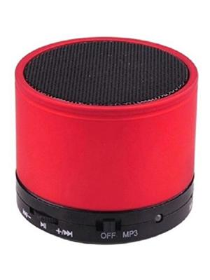 General Aux Koilove Red Portable Round Bluetooth Speaker