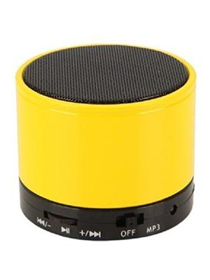 General Aux Koilove Yellow Portable Round Bluetooth Speaker