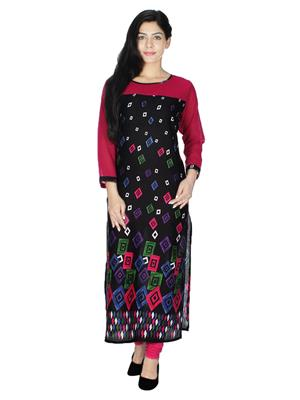 Abhinav Fashion Krt6097Blk Black Women Kurti