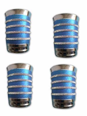 Kiaana KSG02 Stainless Steel Glass Set of 4