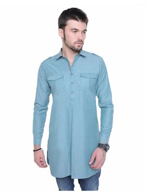 Qdesigns KT-108 Green Men Kurta