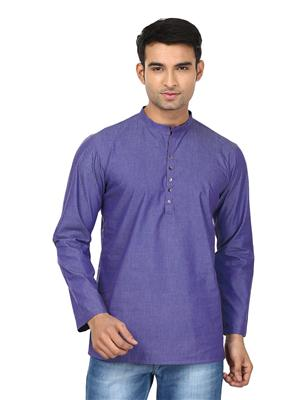 Qdesigns KT127 Purple Men Kurta