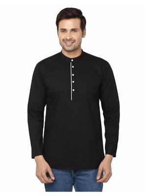 Qdesigns KT-142 Black Men Kurta