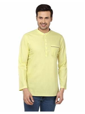 Qdesigns KT-176 Yellow Men Kurta