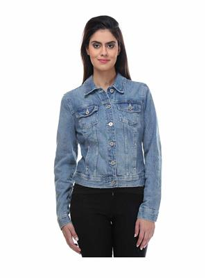 KOTTY JACKET03 Blue Classic Women Denim Jacket