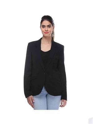 KOTTY AZER01 Black Women Polyester Blazer