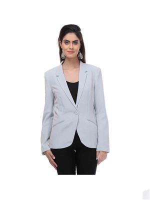 KOTTY AZER06 Silver Women Polyester Blazer