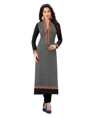Isha Enterprise KVRK-12 Grey Women Kurti