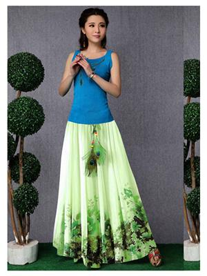 Kyroz Kyzfmsk10 Green Women Skirt