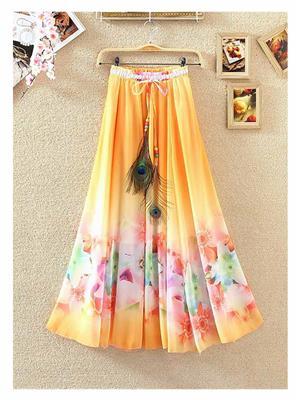 Kyroz Kyzfmsk23 Orange-Pink Women Skirt