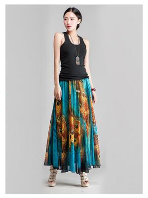 Kyroz Kyzfmsk25 Sky Blue Women Skirt