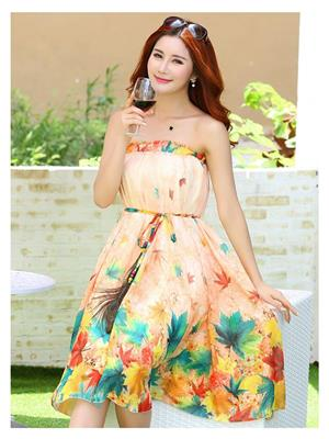 Kyroz Kyzfmsk27 Peach Women Skirt