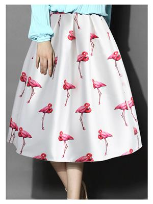 Kyroz Kyzfmsk5 White Women Skirt
