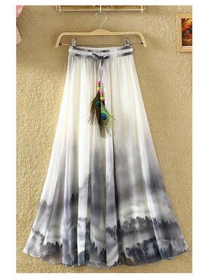 Kyroz Kyzfmsk7 White-Black Women Skirt