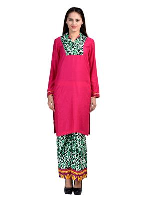 Abhinav Fashion Krt-Plzo-10 Pink Women Palazzo Pants