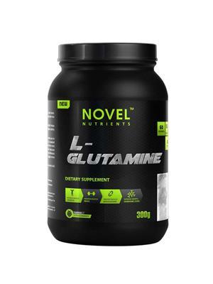 Novel Nutrients L- GLUTAMINE Strawberry flavor 300 GM powder, Muscle Booster