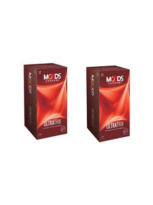 Moods L02002 Ultrathin  Condom Combo Pack Of  2