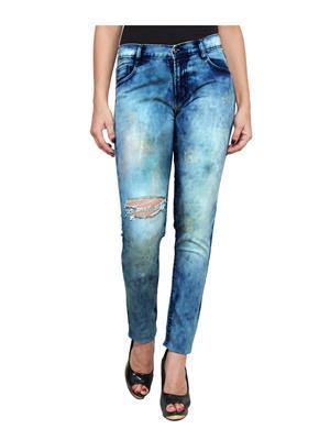 Ansh Fashion Wear LADIES-CLOUD-SCUT Blue Women Jeans