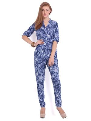 La Arista LAJS014 Blue Women Jumpsuit