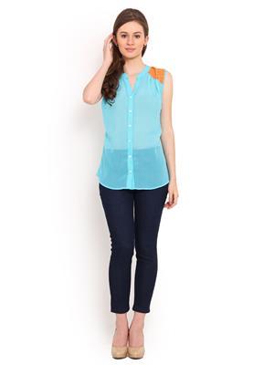La Arista LATP01 Turquoise Women Top