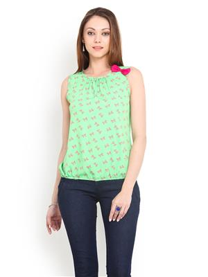 La Arista LATP12 Green Women Top