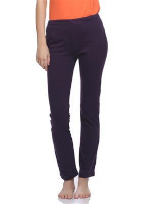 Clovia LB0019P15 Purple Women Pajama