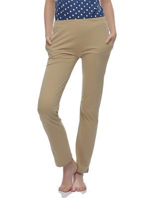 Clovia LB0019P24 Orange Women Pajama