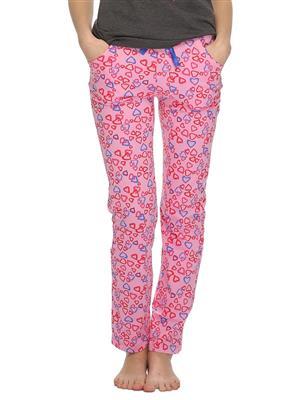 Clovia LB0020P22 Pink Women Pajama