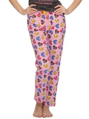 Clovia LB0020P62 Pink Women Pajama