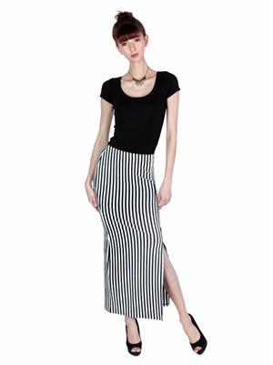 Lee Douche Ld121 Black And White Women Skirt
