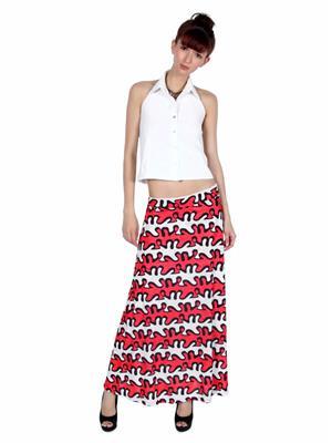 Lee Douche Ld123 Red Women Skirt