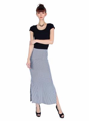 Lee Douche Ld127 Black And White Women Skirt