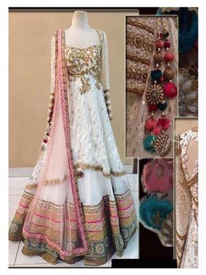 Shreeji Fashion LEN143-3306 White Women Lehenga Choli