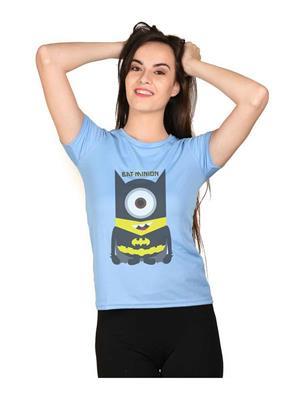 LetsFlaunt LFNEW10004 Blue Women T-Shirt